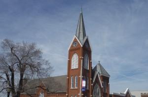 clock steeple UCC