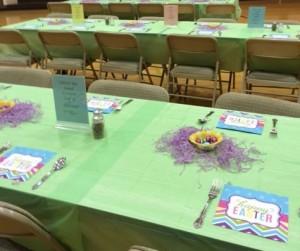 Easter bfast table decs