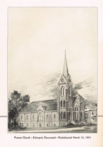 enlarged, renovated church 1931