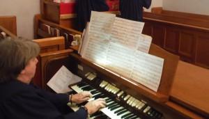 Renee at the organ 3.29.15